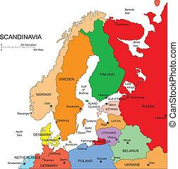 Skandinavien mit Schnittländern, Namen