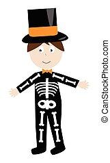 Skeleton-Kostüm.