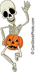 skelett, glücklich