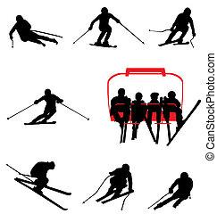 Ski-Silhouettes-Sammlung