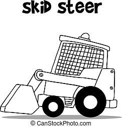 Skid Steer für Industrie-Cartoon Design.
