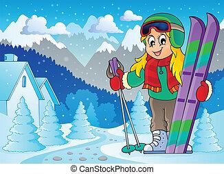 Skiing Thema Bild 2.