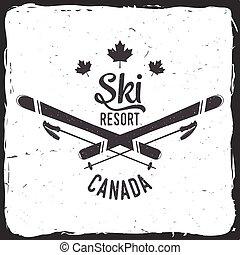 Skiort, Kanada.