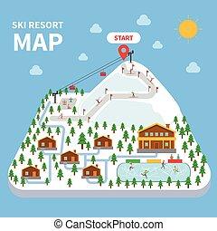 Skiortkarte.