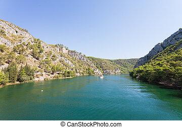 Skradin, Croatia - in den Fluss mund zu skradin.