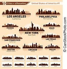 Skyline City Set. 10 Städte der USA 1