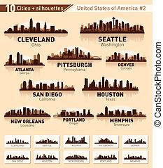 Skyline City Set. 10 Städte der USA 2