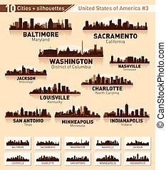 Skyline City Set. 10 Städte der USA 3