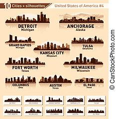 Skyline City Set. 10 Städte der USA Nummer 4