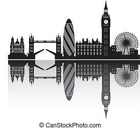 skyline, london, detail