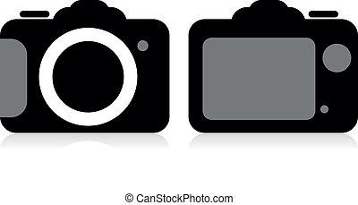 SLR-Kamera, Vektor.