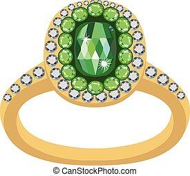 Smaragdgoldring.