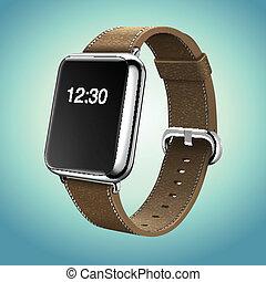 Smart-Uhr-Konzept-Vektor.