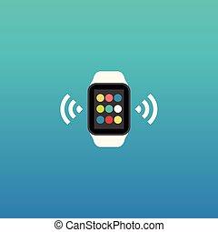Smart Uhr Vektor Flach-Icon.