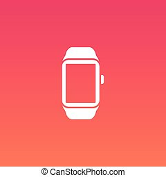 Smart Uhr Vektor Flachbild-Icon.
