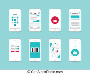 Smartphone Application Interface Elemente