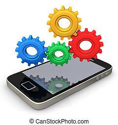 Smartphone-Ausrüstung