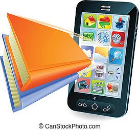Smartphone-Buchkonzept