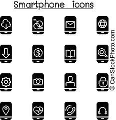 Smartphone Icon Set.