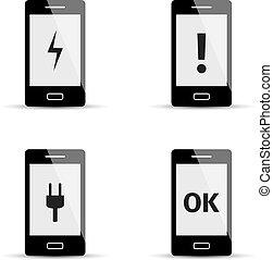 Smartphone Icons eingestellt.