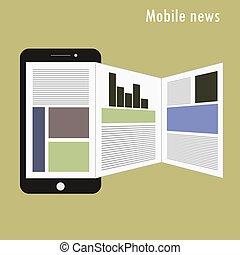 Smartphone mit Nachrichten-Anwendungen auf dem Bildschirm.