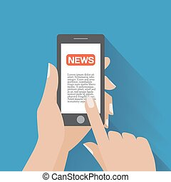 Smartphone mit News-Icon auf dem Bildschirm