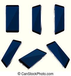 Smartphone Reality Set Illustration.