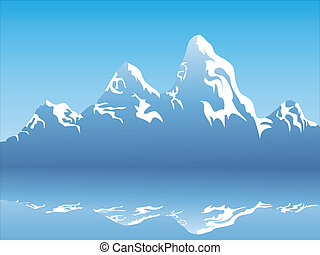Snow Mountain Reflektion