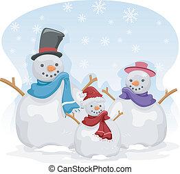 Snowman-Familie