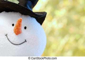 Snowman-Gesicht geschlossen