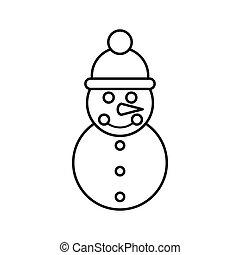 Snowman Ikone, umrissen.