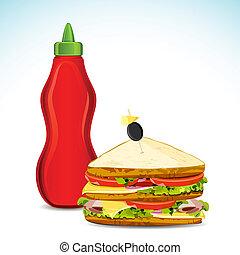 Soße und Sandwich