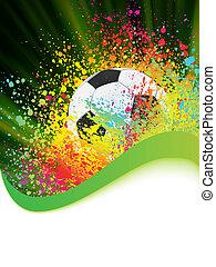 Soccer Background mit dem Kopierraum. EPS 8