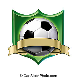 Soccer Crest Award mit leerem Goldetikett