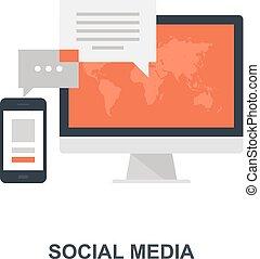 Social Media Icon Konzept.