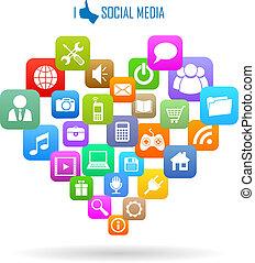 Social Media Ikone.