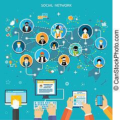 Social Media Network Connection Konzept