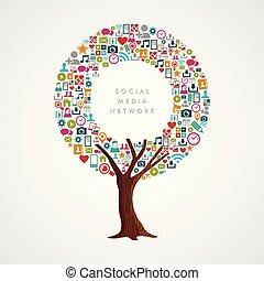 Social Media Network Konzept für Internet app