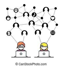 Social Media Network People.