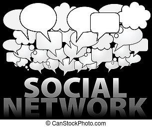 SOCIAL NETWORK-Medien-Redewolke