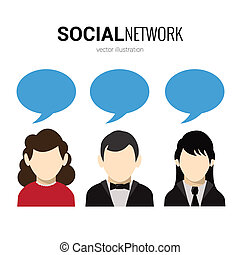Social Network Redeblasen.