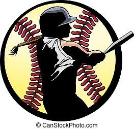 Softball-Battern-Verschluss.