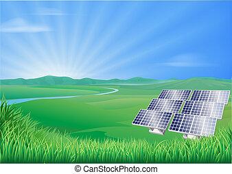 Solar-Panel-Landschaft