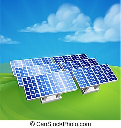 Solare Energieenergie, erneuerbare landwirtschaftliche Zellen.