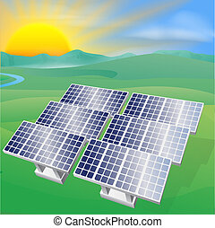 Solarenergie illustriert