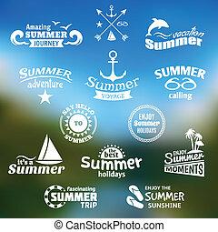 Sommer-Etikett.