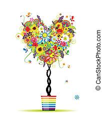Sommer-Foralbaum, Herzform für dein Design