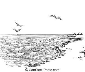Sommer-Seecape-Sketch