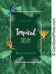 Sommer tropische Hintergrunddesign