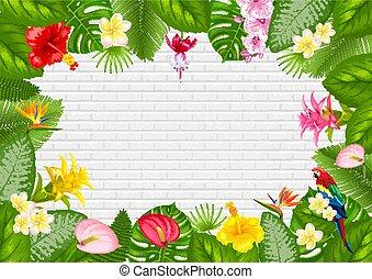 Sommer tropisches Rahmendesign